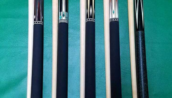 Maple shaft pool cues