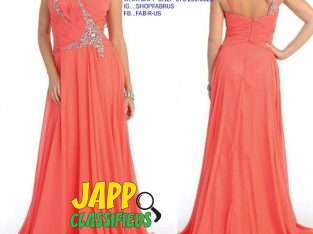 Strapped Evening Gown