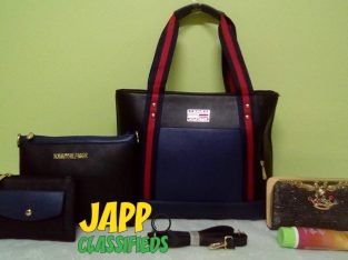 Blue Tommy Hilfiger Handbag Set