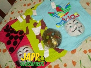 3 brand shirts, 3 masks