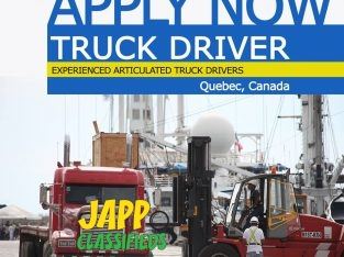 Seeking Tractor Trailer Drivers for work in Quebec Canada