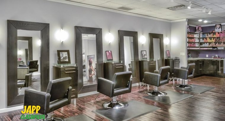 HAIRDRESSERS AND NAIL SALON BOOTHS/STATIONS FOR RENTAL