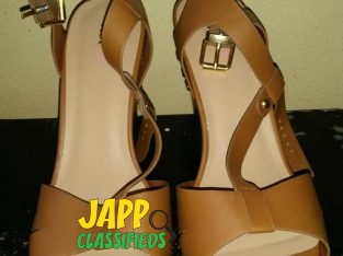 BRAND NEW Brown Wedge Heel Shoes