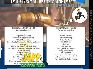 Expedited Divorces and other legal transactions