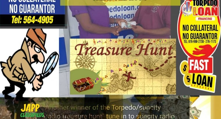 Torpedo Loan / Suncity Radio Treasure hunt Promotion!!