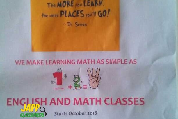 English and Math Classes