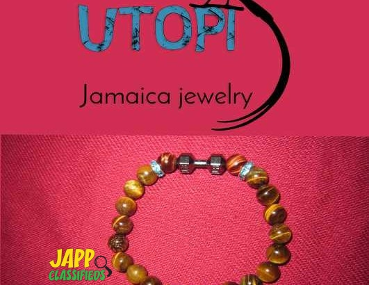 Beautiful yellow and red tiger eye bracelets