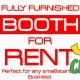 fully furnished booth for RENT