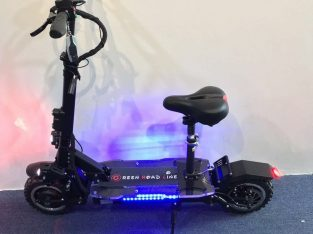 SUN 3600w60v Two Wheel 11in. Folding Off Road Electric Scooter w Seat 45-55MPH
