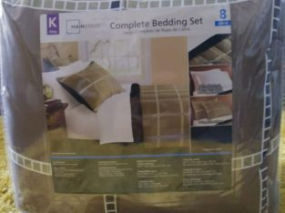 Bedding Set and Lamp for Sale!