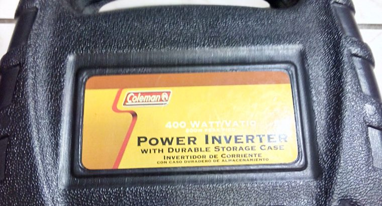 NEW COLEMAN 400W POWER CAR INVERTER 12V DC
