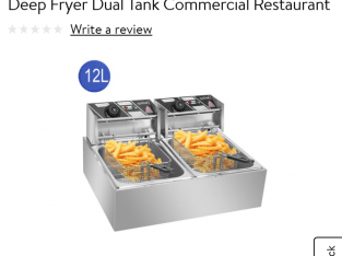 Single & dual electric commercial deep fryers