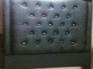 Beautiful Black Padded Headboard For Sale