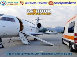 Get Sky Air Ambulance with Advanced Medical Suppor