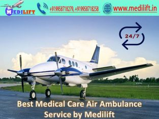 Take Patient Transfer Air Ambulance from Indore