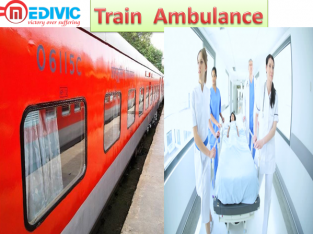 Get Train Ambulance Service in India by Medivic