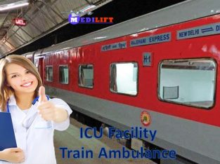 Book Reliable Train Ambulance from Patna to Delhi