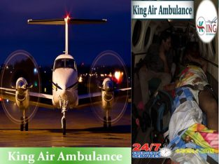 King Air Ambulance Patna, Bihar –with Medical Setu