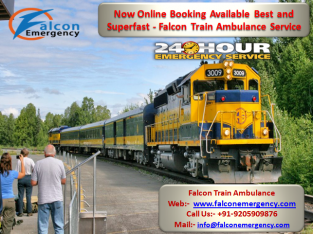 Easily to Hire Falcon Train ambulance Allahabad