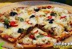 بيتزا الدجاج الحارة
