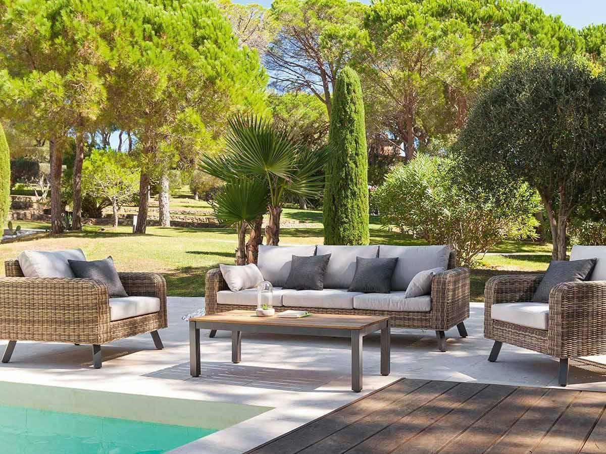 Salon Jardin Resine Tressee Table Ronde - Décoration de maison idées ...