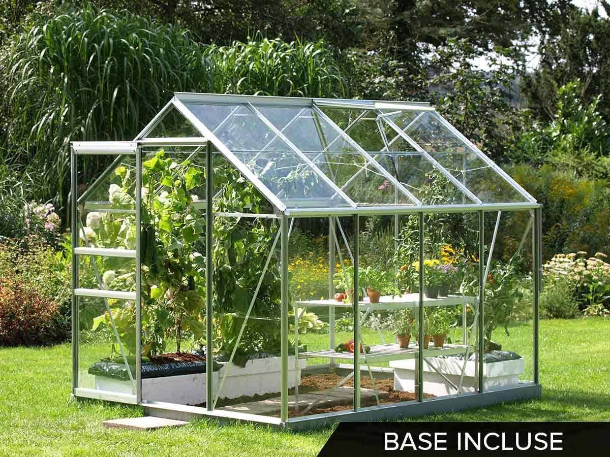 Serre en verre pour jardin modle Venus 5 m  Lams
