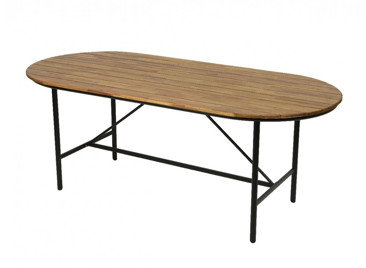 table de jardin en bois et metal edmonton jardideco