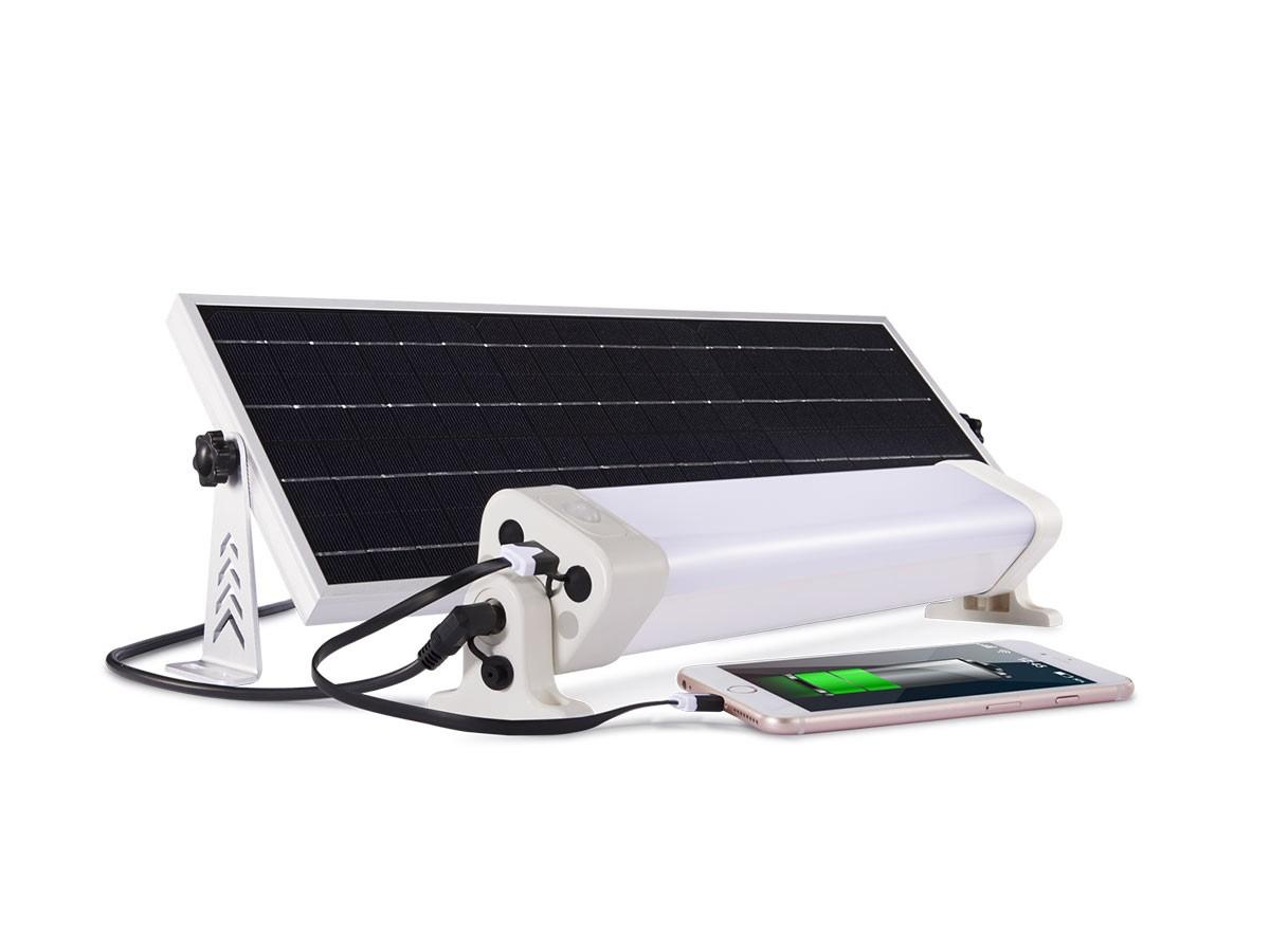 neon led panneau solaire autonomie 8h avec telecommande