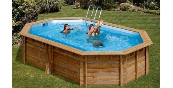 Que mettre sous une piscine hors sol en bois