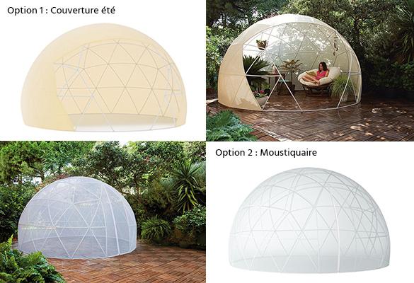 Abri de jardin Garden Igloo dme 10 m  couvertures en option