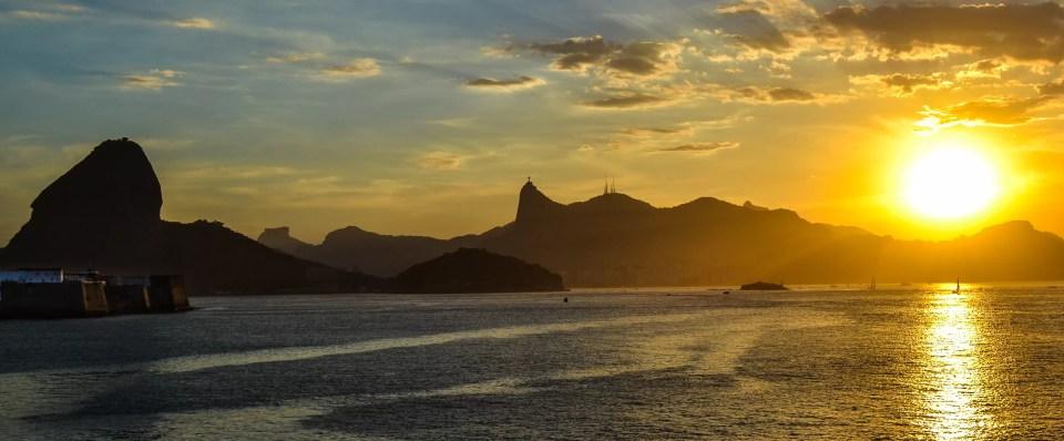 Por do Sol na Fortaleza de Santa Cruz
