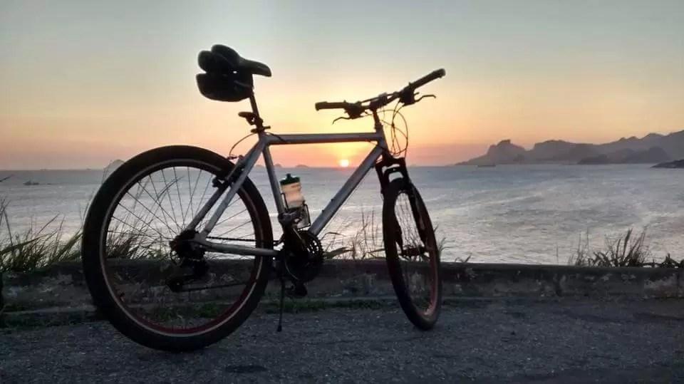 Por do Sol + Bicicleta no Mirante de Piratininga