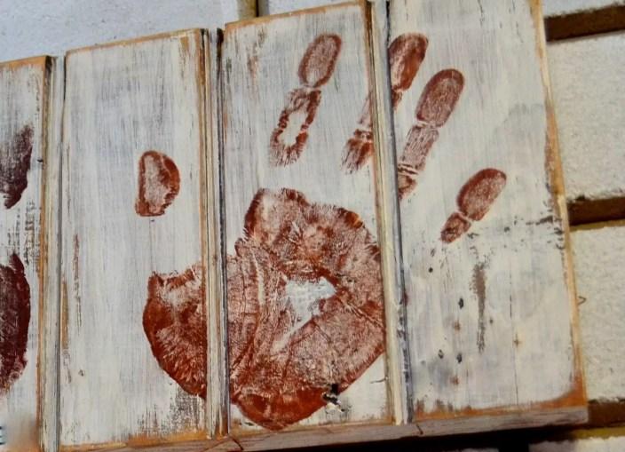 Detalhe do carimbo da mão