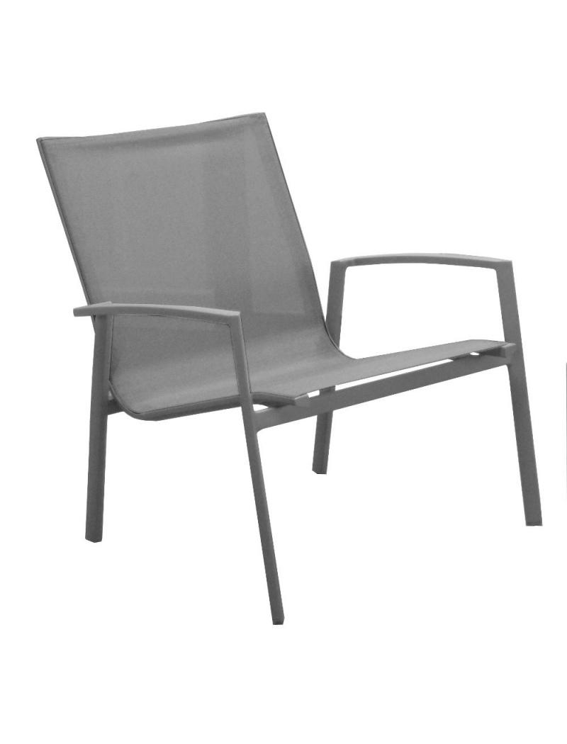 fauteuil bas lounge palma taupe