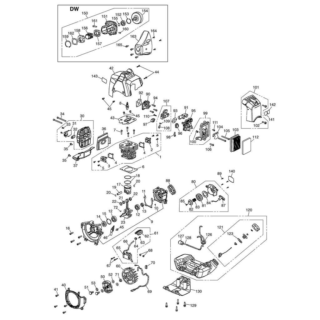 Lanceur / Allumage / Embrayage / Carburateur / Filtre à
