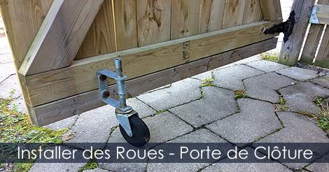 Roues et Roulettes de Barrire et Portes de Clture  Installation