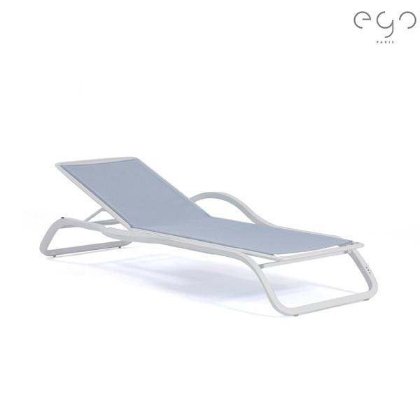bain de soleil marumi avec accoudoir tablette
