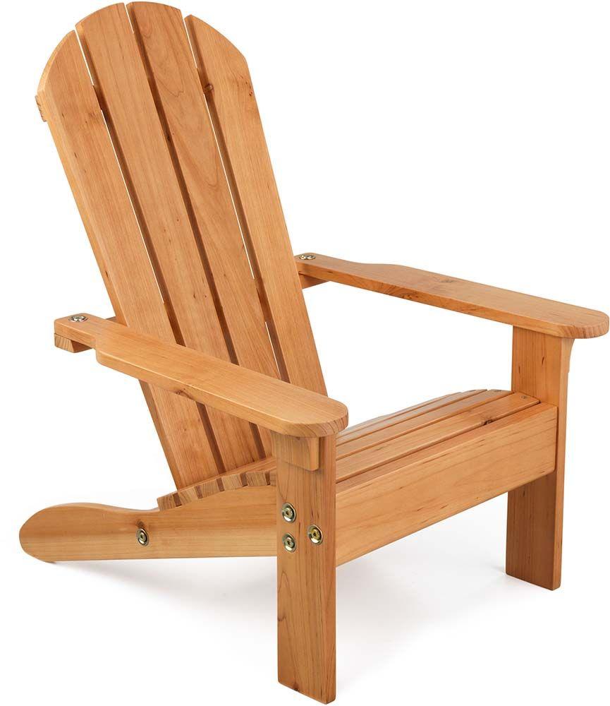 chaise de jardin enfant en bois adirondack