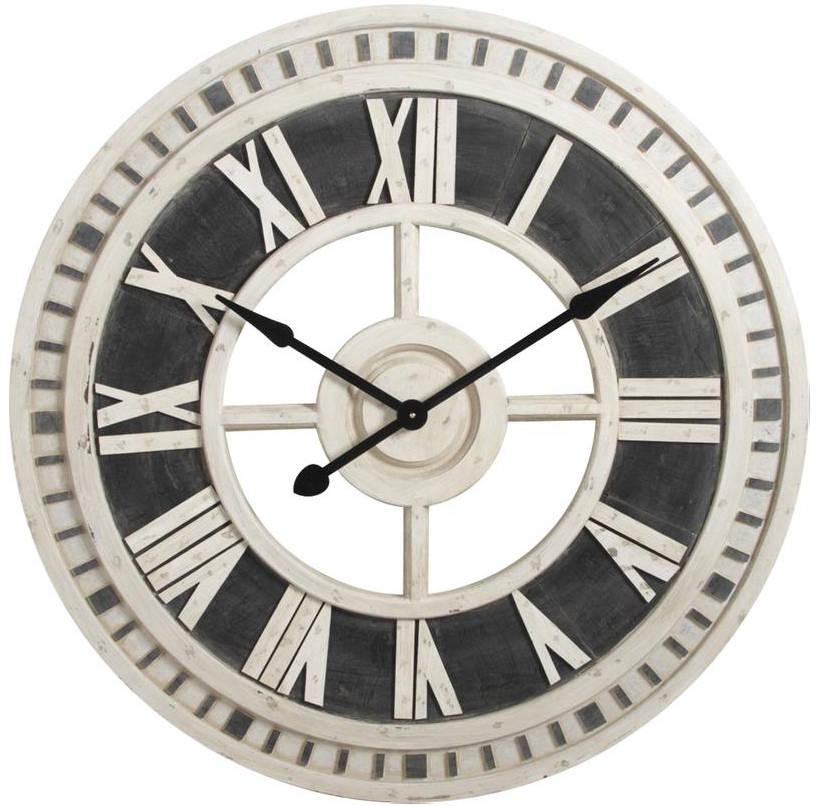 Horloge Murale Romaine En Bois 91cm