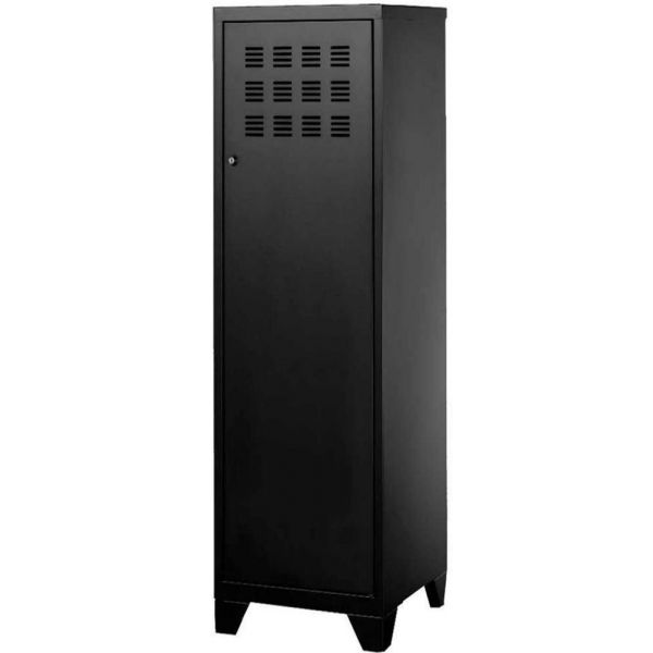 armoire de rangement metal 1 porte noir
