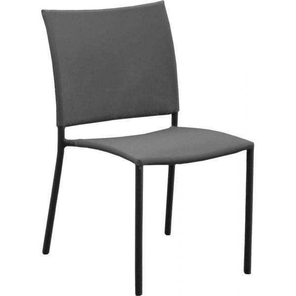 chaise de jardin bonbon pour enfant lot de 4 gris