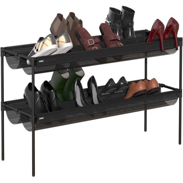 etagere a chaussures en metal 16 paires