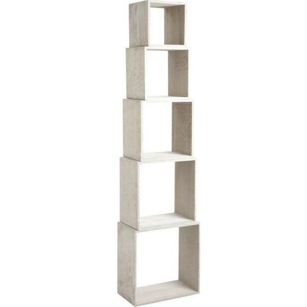 etagere cube bois gris