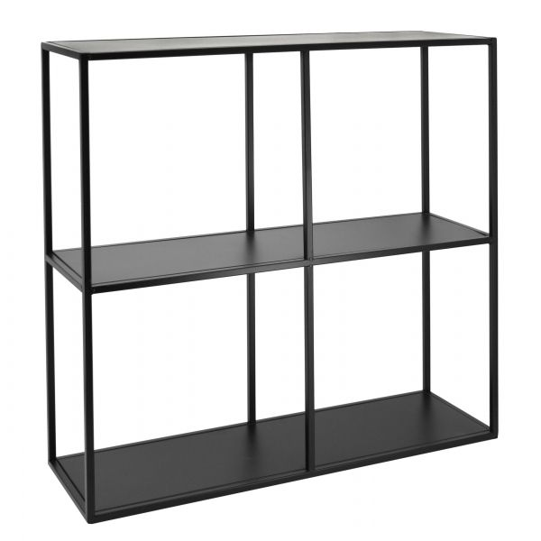 etagere style moderne en metal noir