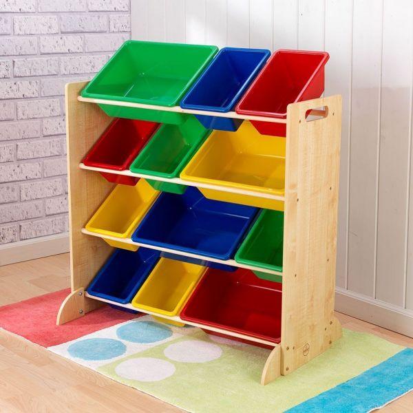 meuble de rangement en bois 12 bacs pour enfant 119