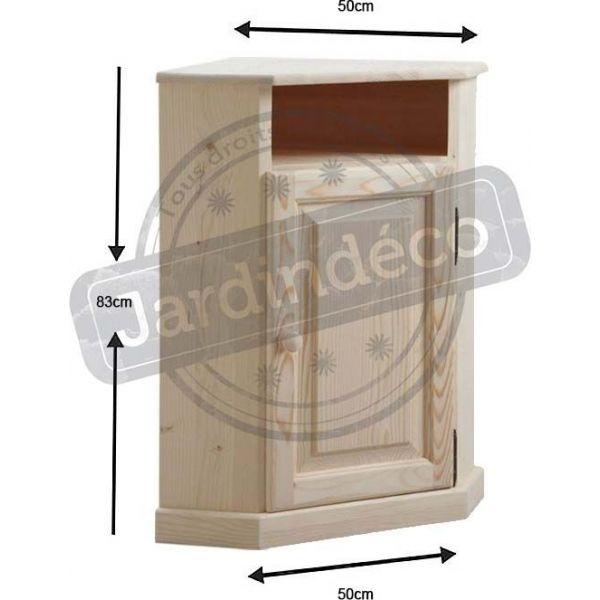 petit meuble d angle en bois brut