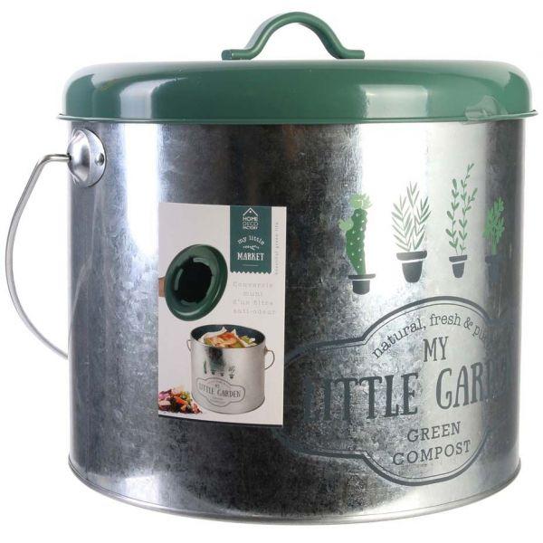 poubelle de cuisine a compost my little markett 5l