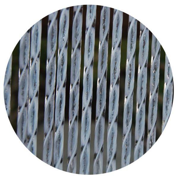 rideau de porte en pvc blanc ascona 90x210 cm