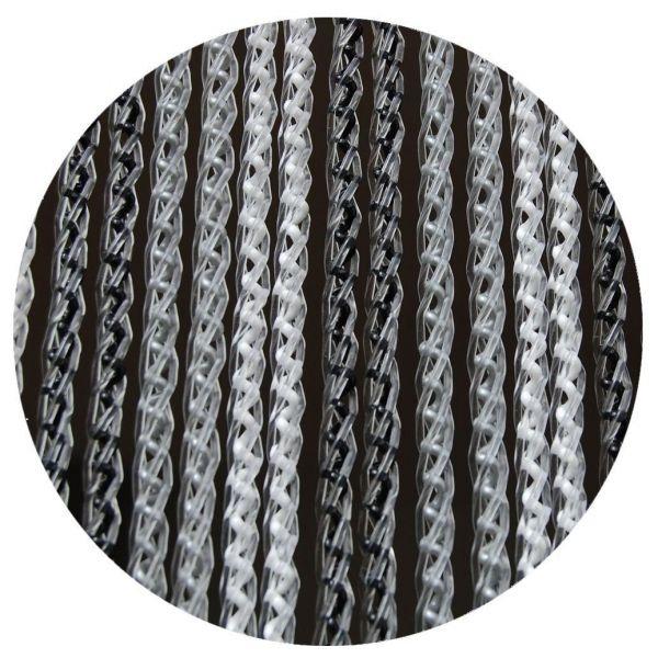 rideau de porte en pvc noir et gris arezzo 100x230 cm