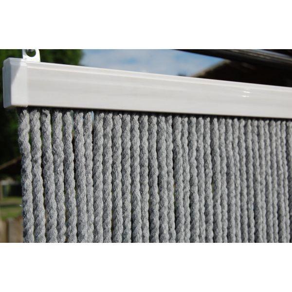 rideau de porte en corde gris toulon 90 x 210 cm